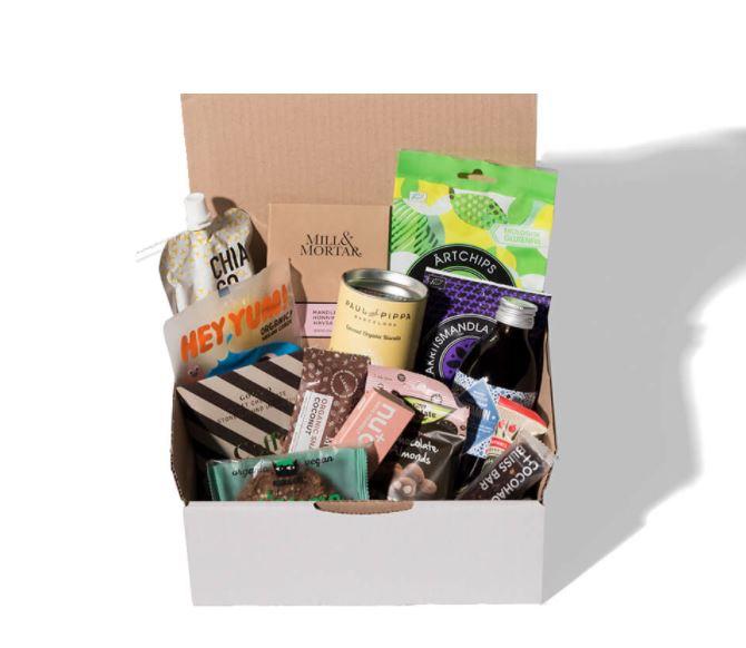 En kasse med lækkerier