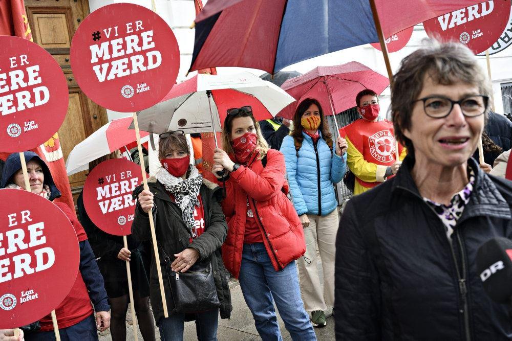 Sygeplejersker der strejker