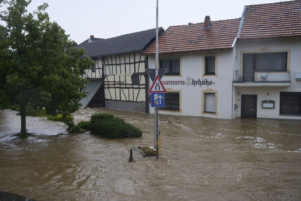 billede fra den oversvømmede by Esch