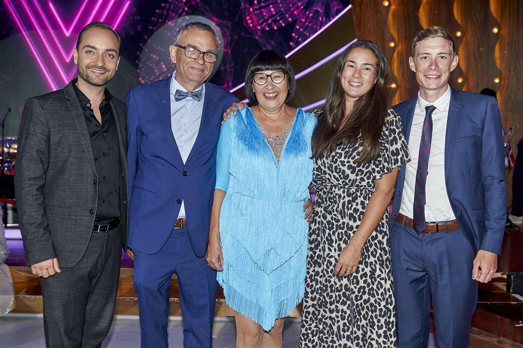 Esbern Syhler-Hansen, Carsten og Rosa Kildahl, Trine og Jonas Vingegaard.