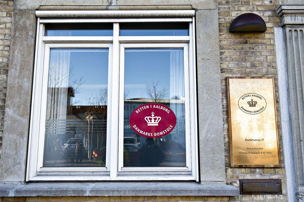 indgang til retten i Aalborg