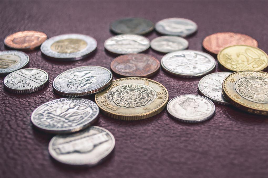 Mønter fra forskellige lande