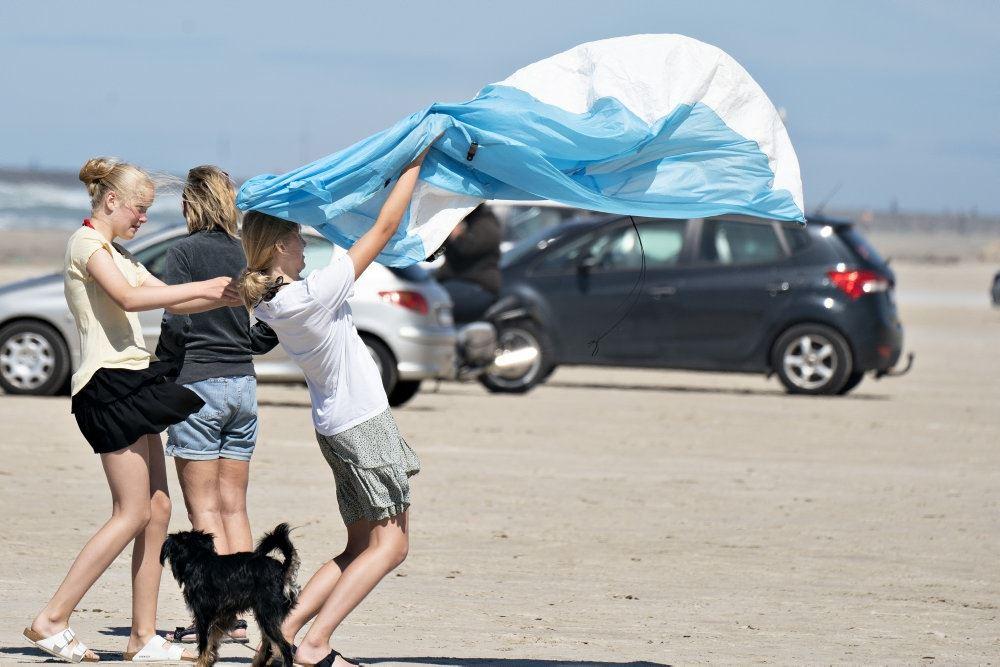 personer på en strand