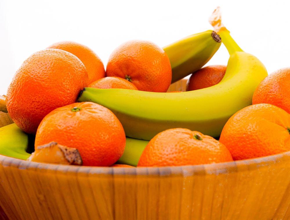 frugt i skål