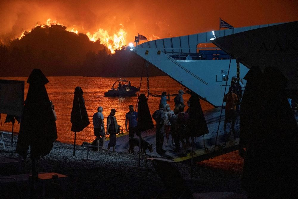 brande i grækenland