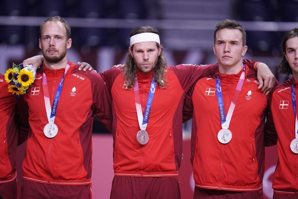 Håndboldspillere med sølvmedaljer