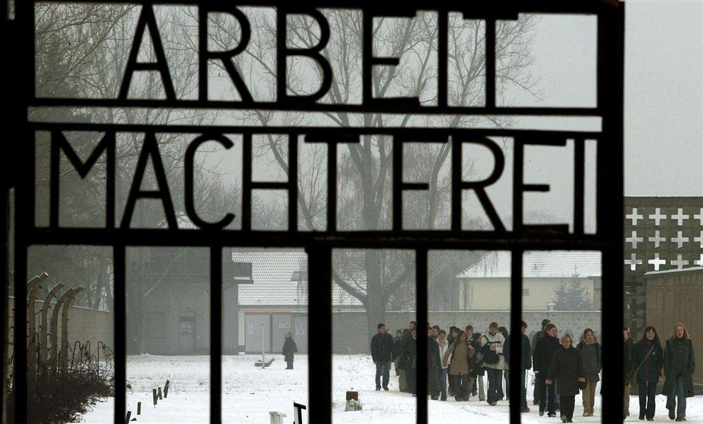 porten ind til Sachsenhausen koncentrationslejr