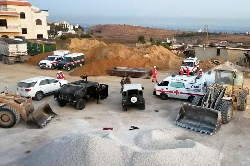 Røde Kors på ulykkessted