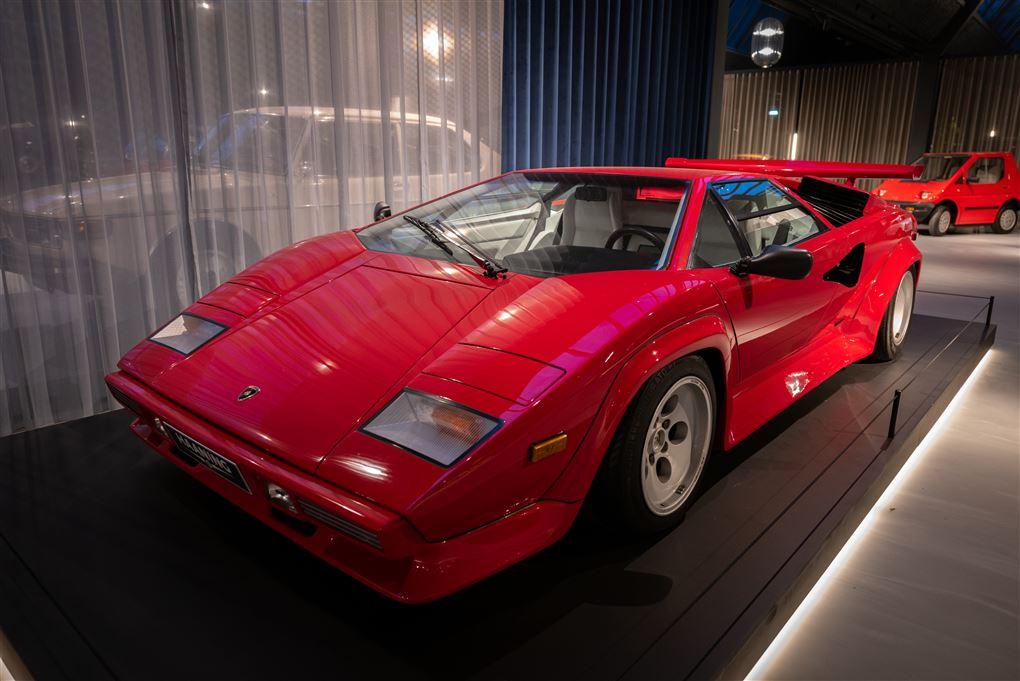 En rød Lamborghini
