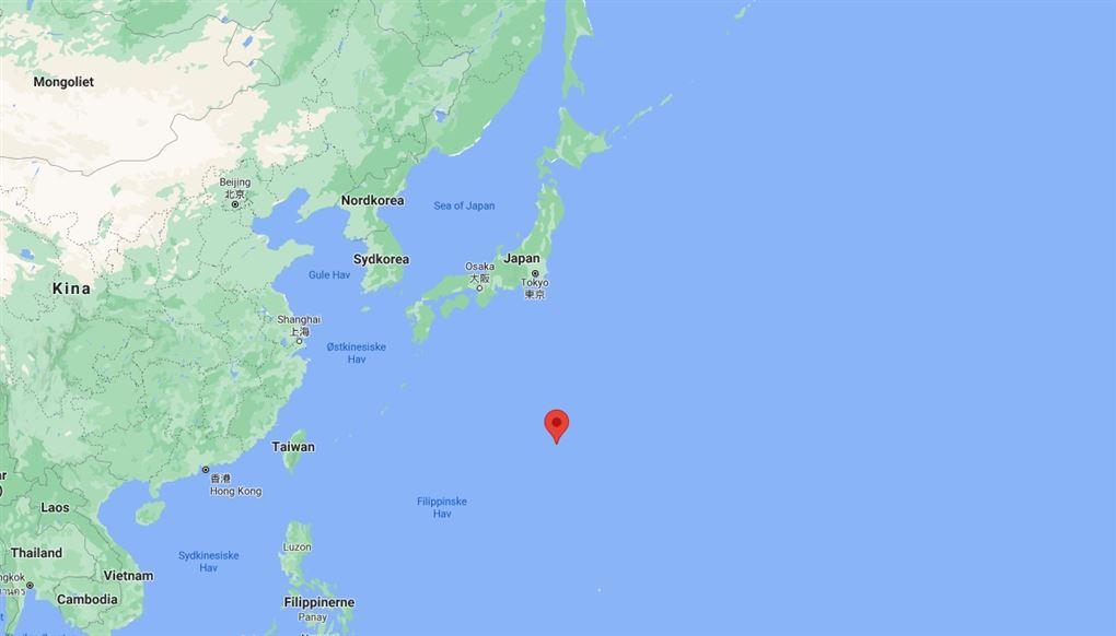 udsnit af kort over det østlige Asien og stillehavet