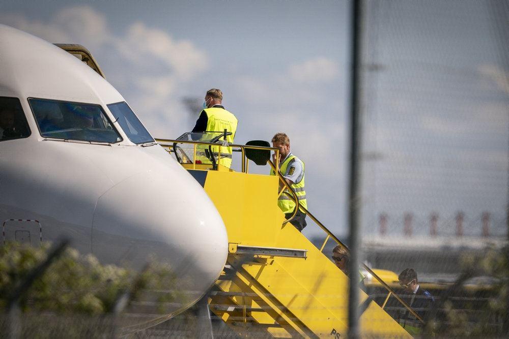 fly holder i lufthavn