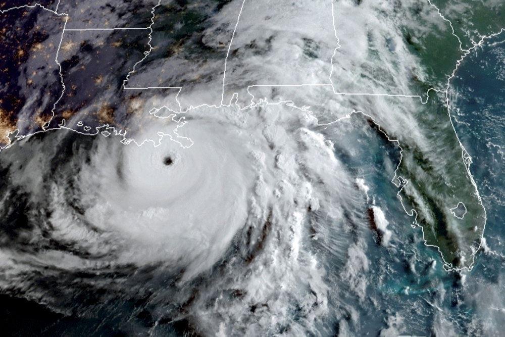 Orkanens øje.