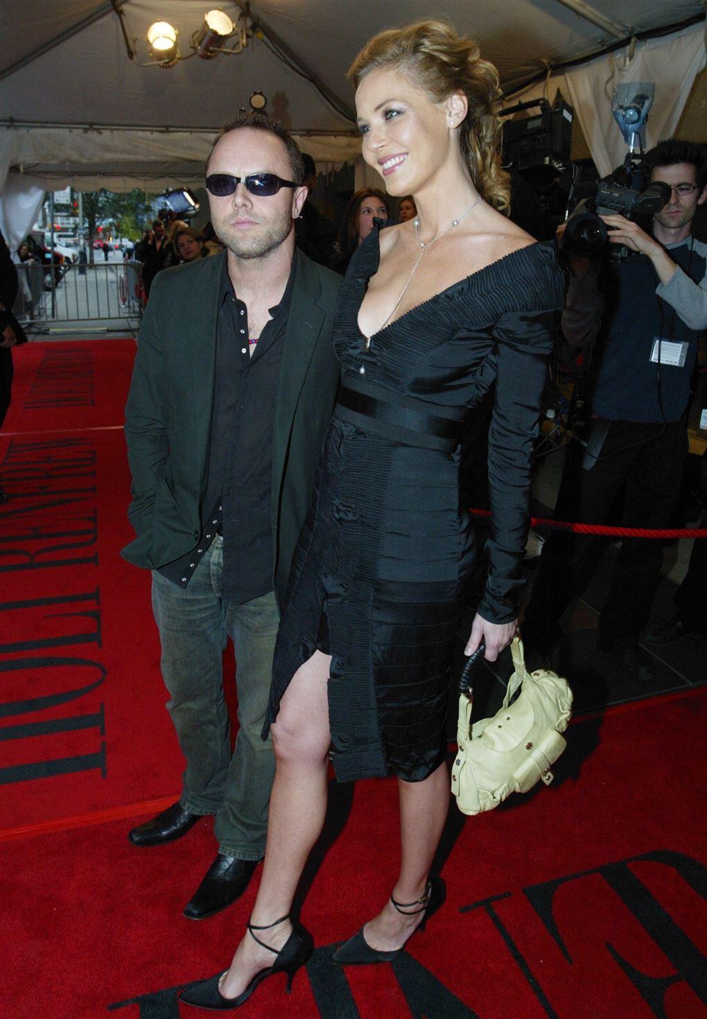 Lars Ulrich og Connie Nielsen