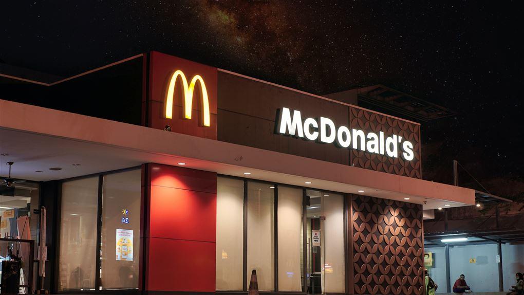 Modelbillede af en mcdonalds restaurant