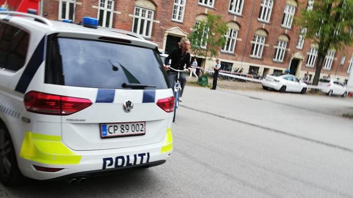 billede af politi på gerningsstedet
