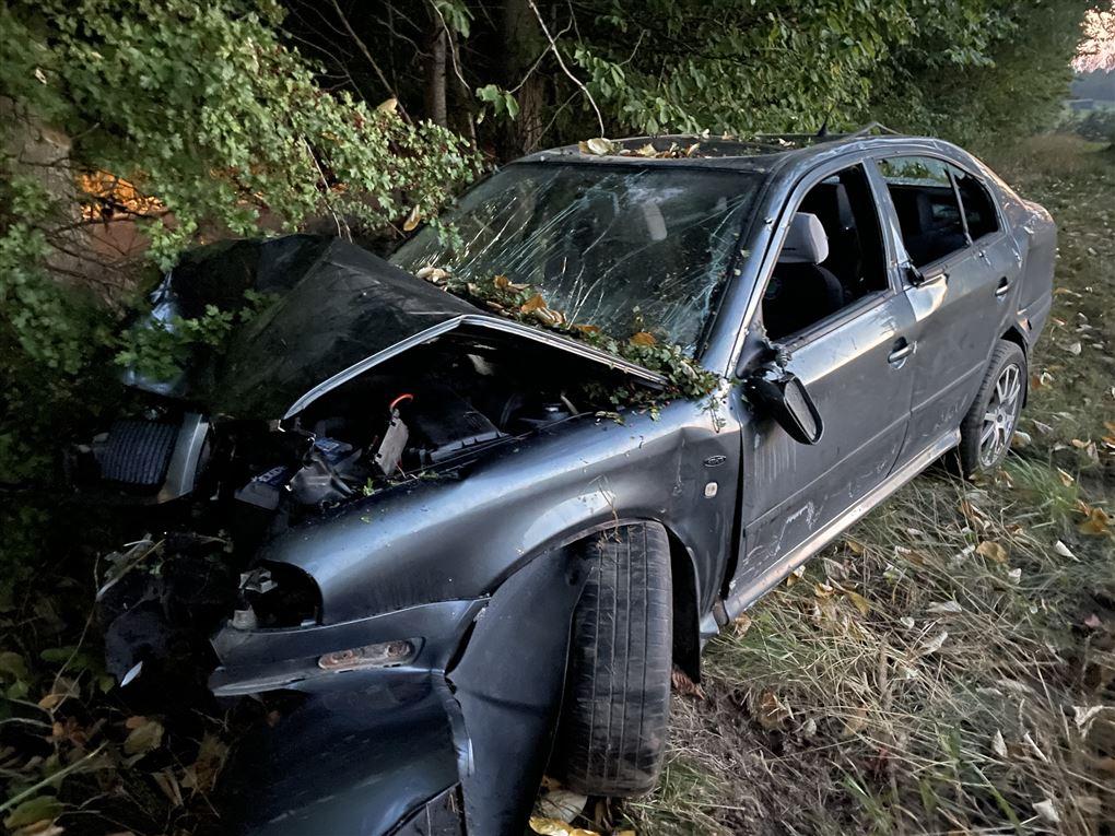 den smadrede bil