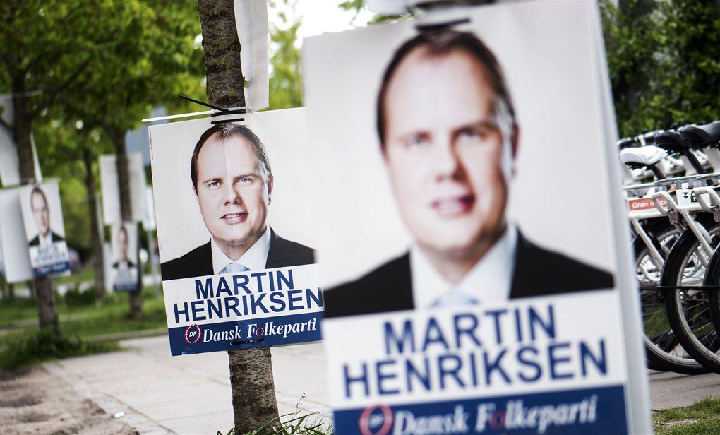 valgplakat med MArtin Henriksen