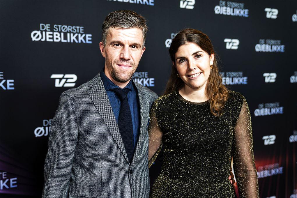 Chris Anker Sørensen og hans kone Michelle til en prisuddeling i 2019.
