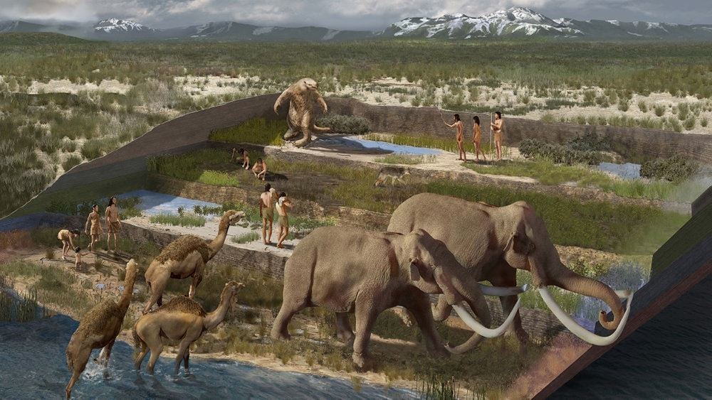 illustration af udgravning