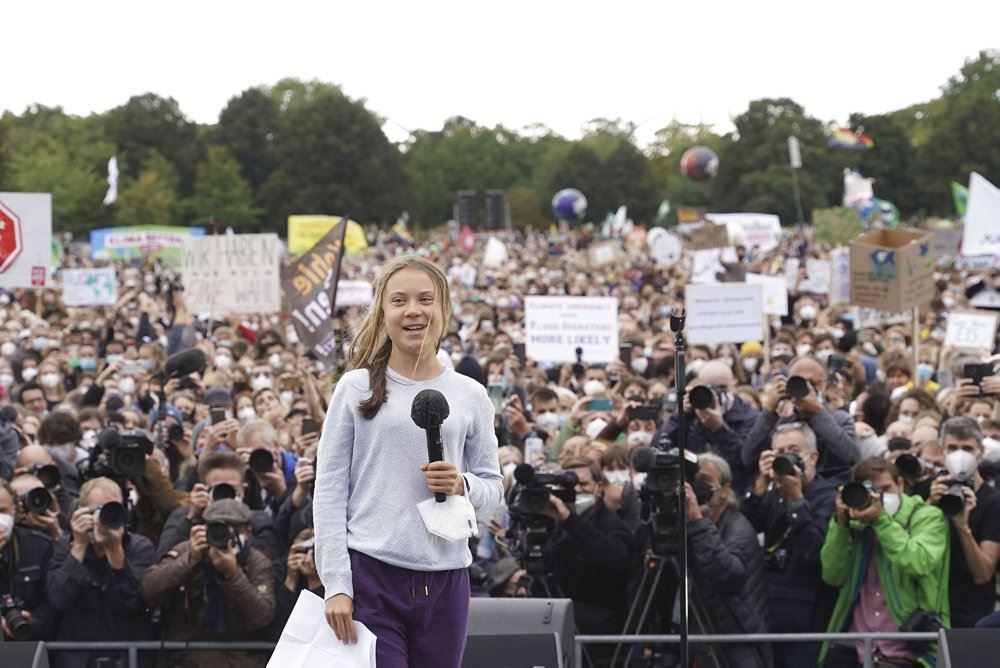 Thunberg ved demonstration