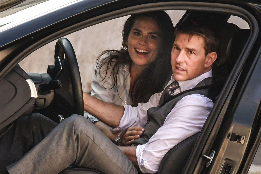 Tom Cruise og Hayley Atwell