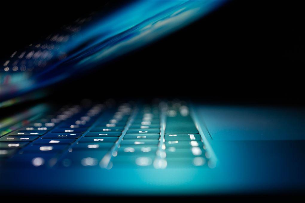 Computer tastatur i mørke