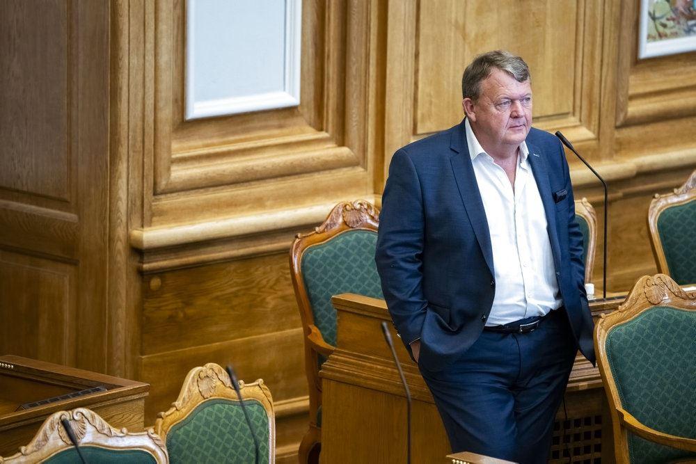Lars Løkke i Folketingssalen