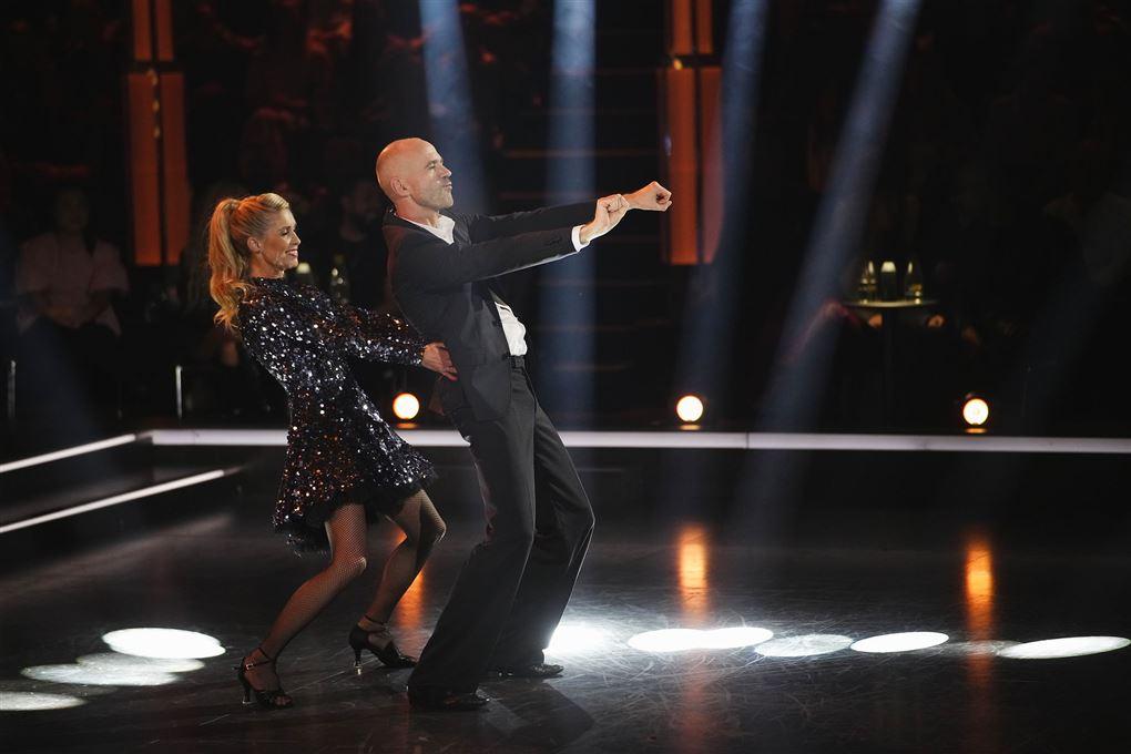 Michael Katz Krefeld og Karina Frimodt på dansegulvet.