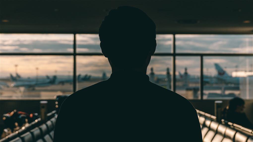 person i lufthavn