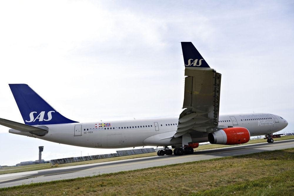 Et SAS fly på jorden