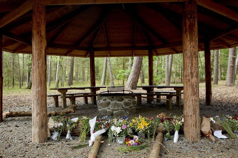 Den velkendte bålplads, hvor offeret blev fundet
